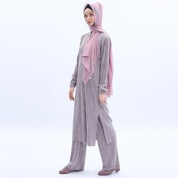 New Dubai Muslim women baju kurung top+pants /set (no hijab)