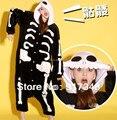 Взрослый мужской фланель хэллоуин костюмы скелет череп призрак Onesies Onesie пижамы комбинезон толстовки пижамы для взрослых