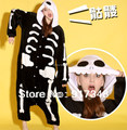 Unisex Adult Flannel Halloween Costumes Skeleton Skull Ghost Onesies Onesie Pajamas  Jumpsuit  Hoodies Sleepwear For Adults
