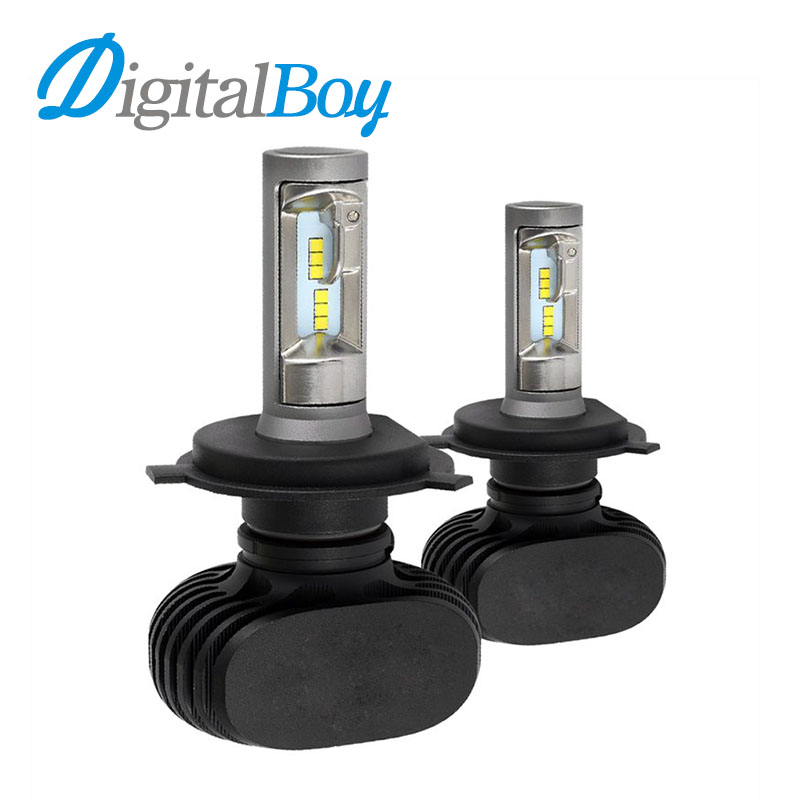 Digitalboy Car LED Headlight H7 H1 H3 H8/H9/H11 HB3/9005 HB4/9006 bi Beam H4 Hi/Low Headlamp 50W 8000lm Auto H3 Light Bulb 6000k newest h4 led car headlight h1 h8 hig led light 9005 9006car led headlight bulb auto headlamp lamp high low beam white lighting