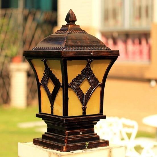 European Modern Retro Garden Landscape Lighting Waterproof Outdoor Lamp Post  Lights Wall Gate Pillars Lamppost Lamp