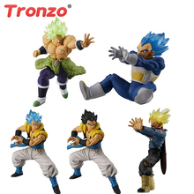 Tronzo Original Bandai Dragon Ball Super HG Gashapon 09 Broly Gogeta Vegeta Trunks PVC Action Figure Model Toys DBZ Doll Gift