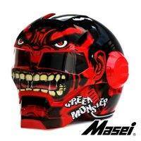 MASEI 610 Red Giant Hulk motorcycle helmet IRONMAN Iron Man helmet half helmet open face helmet casque motocross