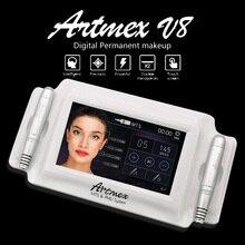 2018 고품질 영원한 메이크업 기계 디지털 Artmex V8 문신 기계 derma 펜 펜 MTS PMU 시스템 직업적인 귀영 나팔 총