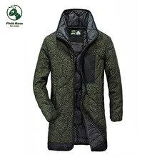 Поле База зима Мужские парки 2017 повседневная мужская Куртки плотные пальто Военное Дело куртка теплая длинная куртка пальто мужские Брендовые мужские одежда