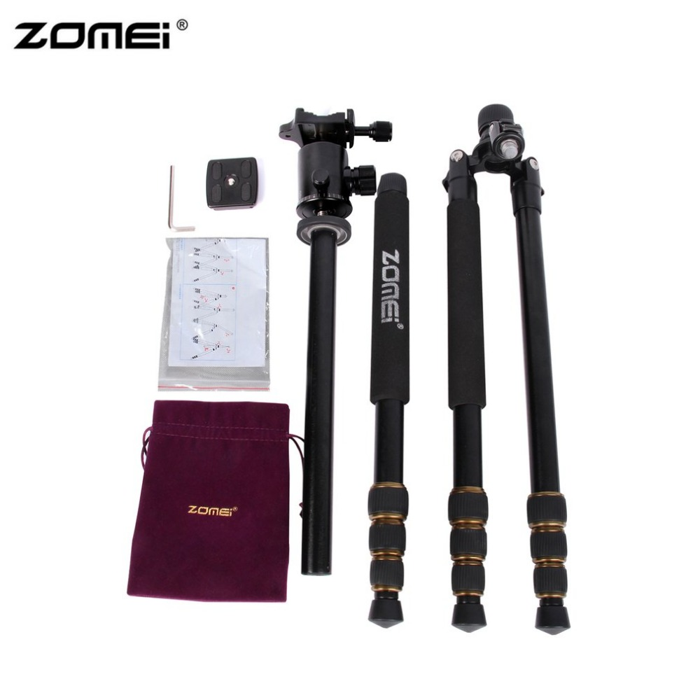 Zomei Z688 Portable Flexible Camera Tripod Stand With Ball Head Quick-Release Plate For DSLR SLR Camera With Carrying Case srjtek for huawei mediapad t1 8 0 3g s8 701u honor pad t1 s8 701 touch screen digitizer lcd display matrix tablet pc assembly