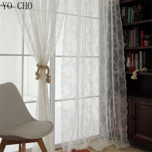 High class French style finished modern flower hollow out voile ...