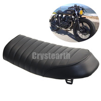 Flat Brat Brown Seat Cafe Racer Vintage Saddle For Suzuki GN125 GN250 GN400 GR650 GS250 GT250 T250 TU250 GT380 GS450 GS500 GS550