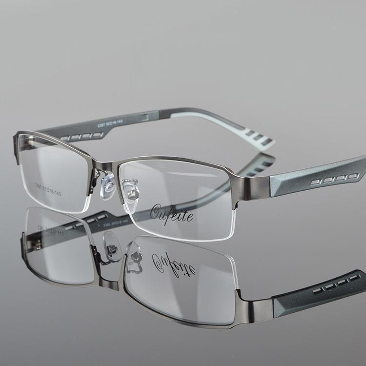 Herrglasögonramar Metall Halvkantfria glasögon Affärsglasögon - Kläder tillbehör - Foto 3