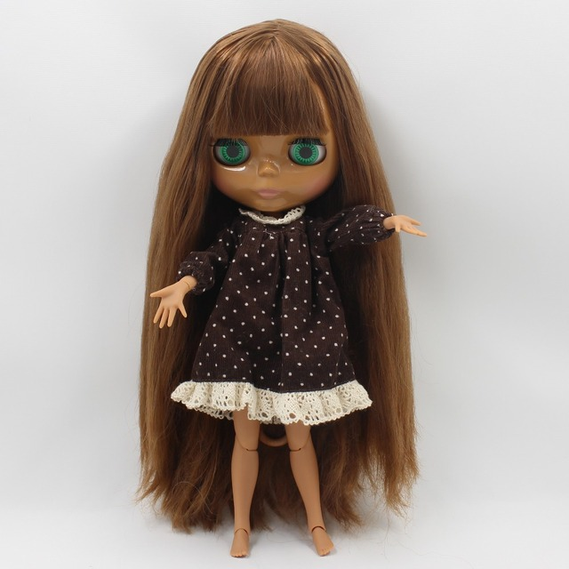 ICY Neo Blythe Doll Brown Hair Dark Skin Jointed Body