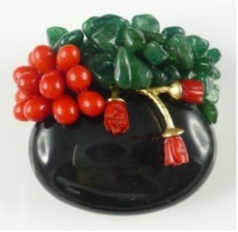 все цены на Semi-precious Stone Brooch For Women Natural Stone Brooch Pins Free Shipping BR003 онлайн