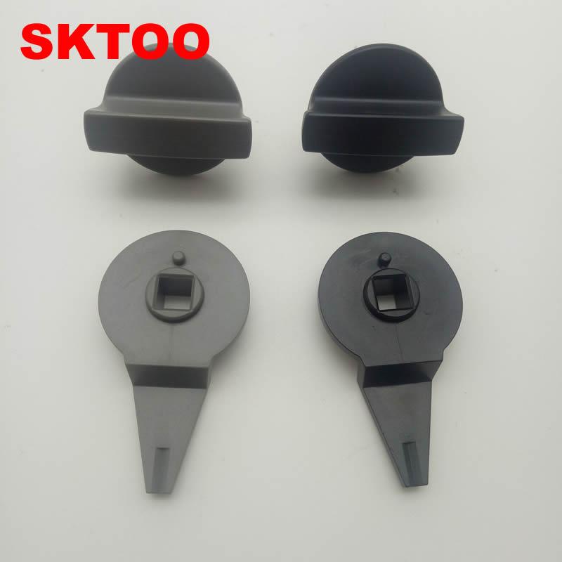 Cartão SKTOO Para VW Touran mala do carro tronco caixa de cauda bloqueio fivela triângulo suporte suporte de botão acessórios frete grátis