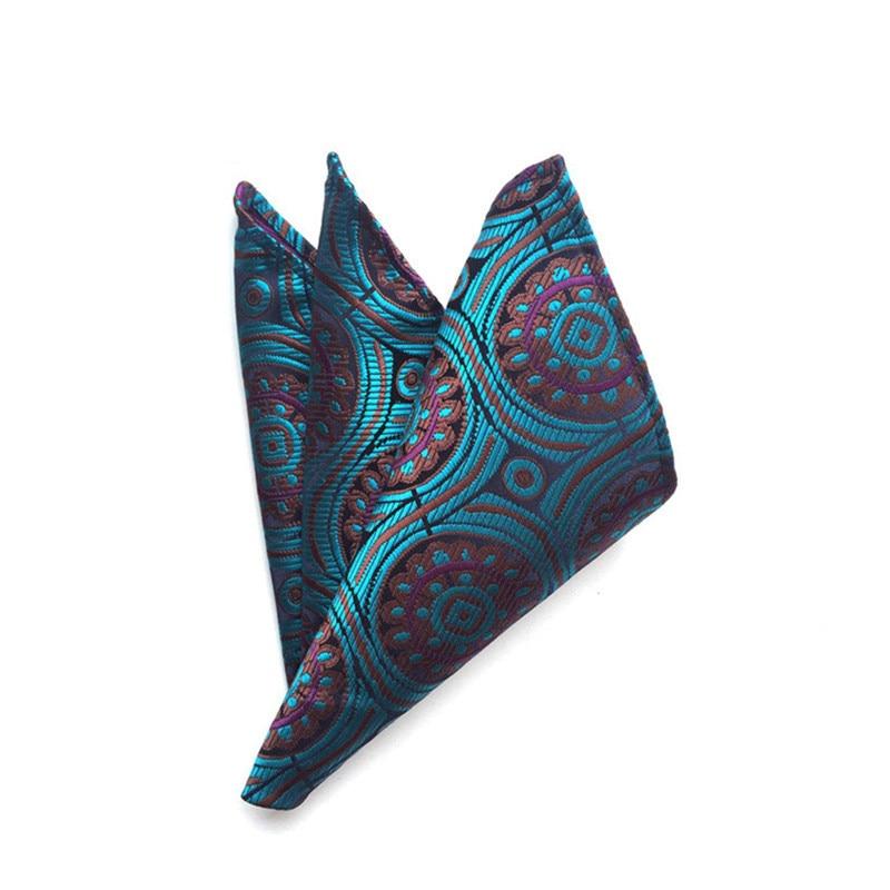 Mantieqingway Polyester Pocket Square Handkerchief Fashion Business Suit Pocket Towel Hankies Vintage Paisley Hanky For Wedding