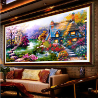 NEW DIY 5D Diamond Mosaic Landscapes Garden Picture FULL Round Diamond Drill Diamond Painting Cross Stitch