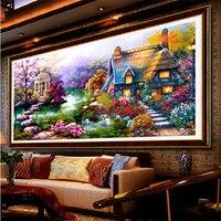 NEW DIY 5D Diamond Mosaic Landscapes Garden Picture FULL Round Diamond Drill Diamond Painting Cross Stitch