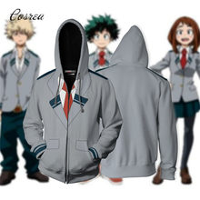 My hero academia 까마귀 스웨터 deku bakugou katsuki todorki 남성 후드 지퍼 all might costume tracksuit for boy(China)
