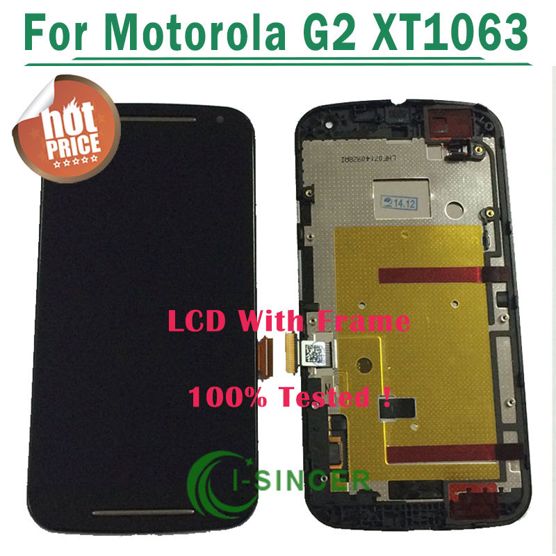 1/PCS Black,White LCD Screen For Motorola for MOTO G2 G+1 XT1063 LCD Display Touch Digitizer + Frame Assembly