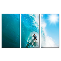 Hd Printed DIY Digital Canvas Men Water Wet Surf Home Decoration Pictures Wall Art Picture Decor Modular Pictures 40x75cmx3pcs