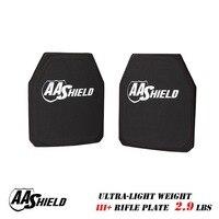 AA Shield III Rifle Plate Ultra Light Weight BulletProof Body Armor 9 5X11 5 Pair