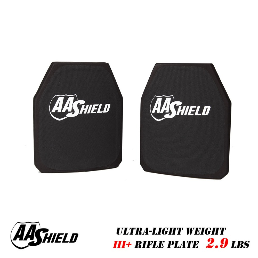 AA Shield Bullet Proof  Rifle Plate Ultra Light Ballistic Hard Body Armor Plate 9.5X11.5 Pair For Armour Vest Free Shipping