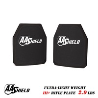 AA Shield III Rifle Plate Ultra Light Weight BulletProof Body Armor 9 5X11 5 Pair