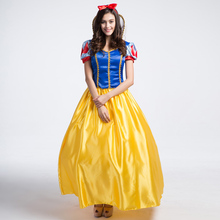 Adult Women Princess Snow White Fancy Dress Halloween Storybook Book Day Fantasic Costume its snow day