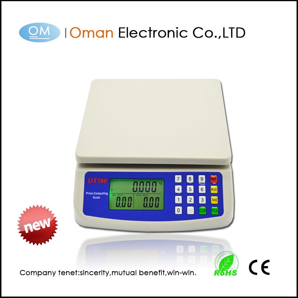 Oman-T580 30kg / 1g Digitale Postkochkost Diät Gramm Küchenwaage - Küche, Essen und Bar
