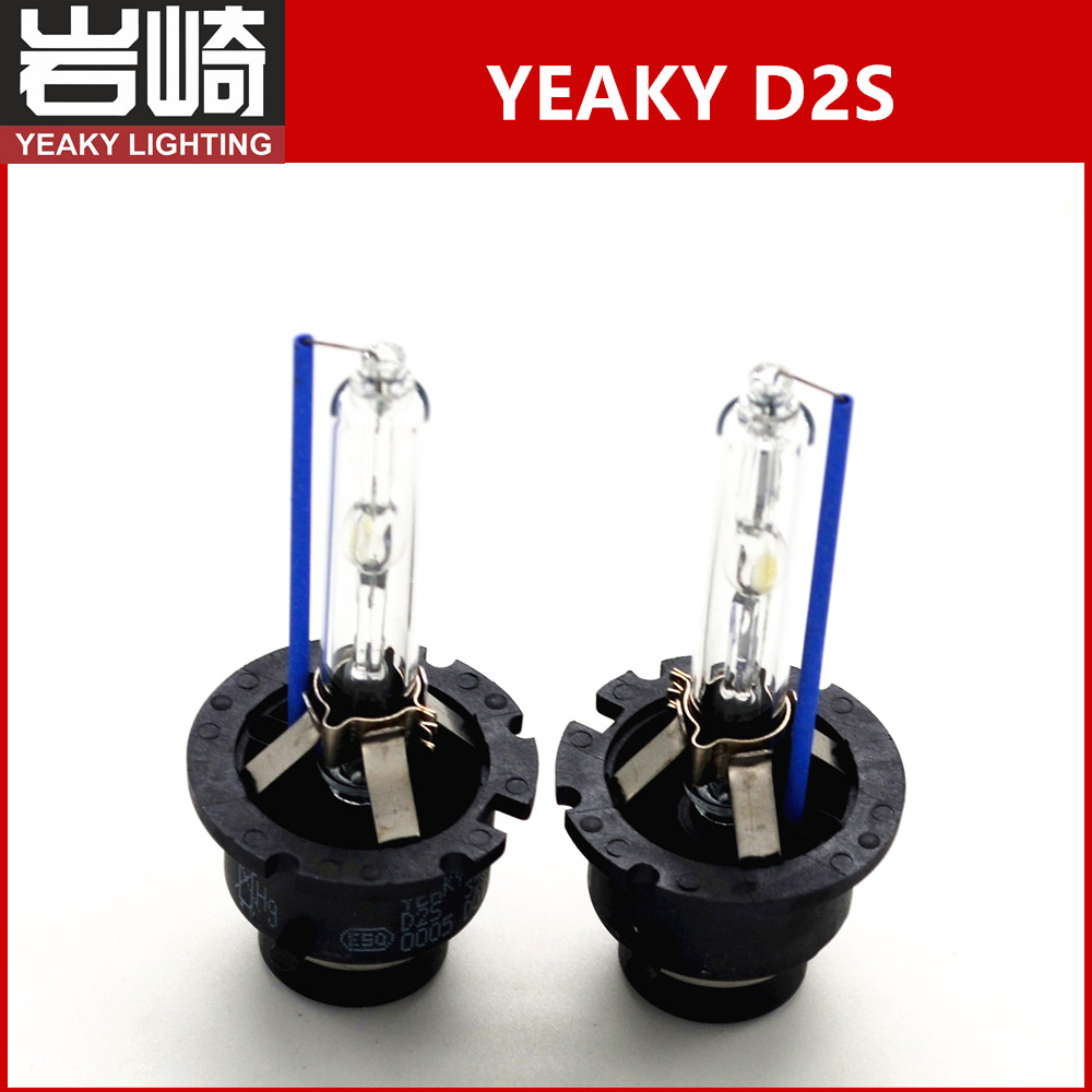 2 X yeaky D2S xenon lamp hid headlight bulb 35W AC xenon yeaky lighting D2S adapter for ballast D2 replacement cnlight d2s 85122