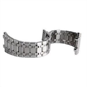 Image 5 - 28mm bilek bandı kayışı katı bağlantı paslanmaz çelik bilezik gümüş AP İzle basma düğmesi değiştirme erkekler + 2 bahar çubukları