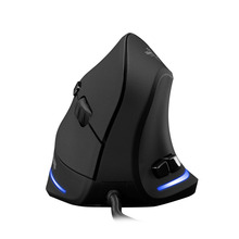 ZelotesT-20 Vertical Wired Mouse USB 3D Gaming Mouse Programmable 6 Buttons Optical LED Mice Desktop PC 3200DPI Adjustment L0118