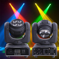 RGBW Stage Light 70W 5 LED Double Sides Spot Light Moving Head Laser Projector Stage Lighting