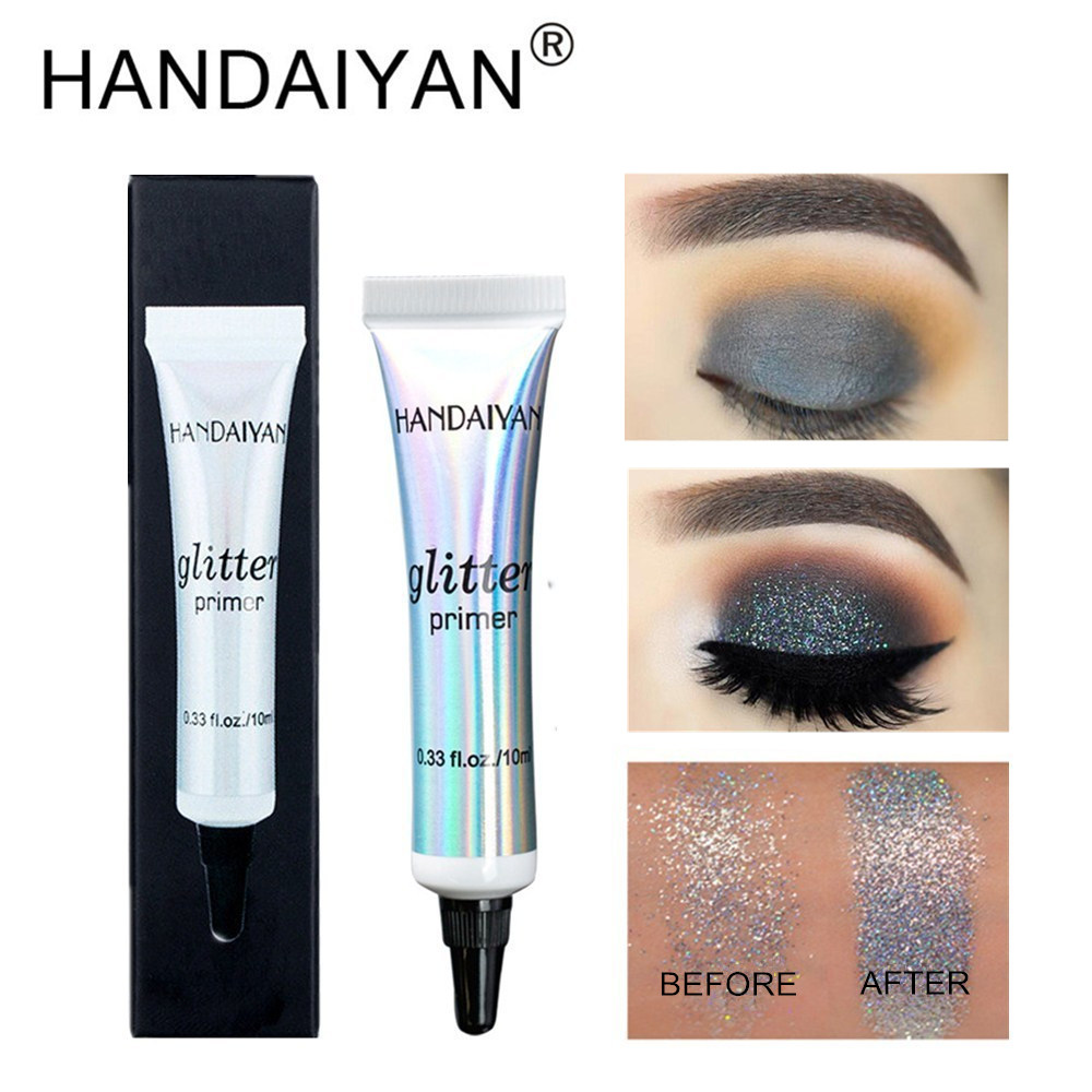 HANDAIYAN 10ml Glitter Primer Maximized Eyeshadow Color Eye Base Makeup Cream Long Lasting Milk Texture Natrual Primer Maquiagem image