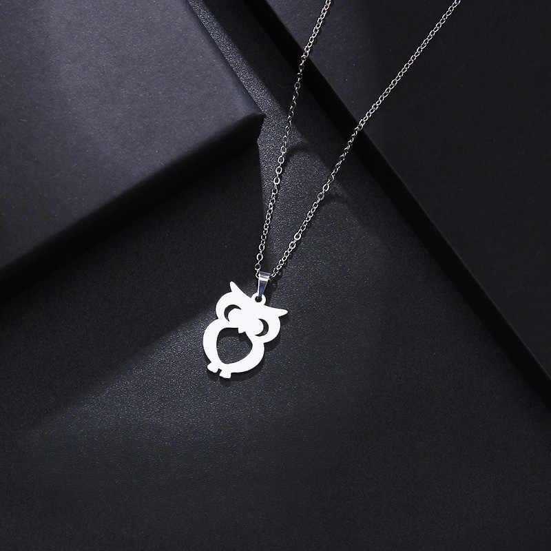 DOTIFI ожерелье из нержавеющей стали для женщин Мужская Сова Золотой и Серебряный цвет кулон ожерелье обручальные ювелирные изделия