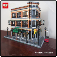 IN STOCK New LEPIN 15017 4616Pcs Creator Starbucks Bookstore Cafe Model Building Kits Blocks Bricks Toys
