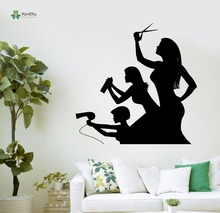 YOYOYU Vinyl Wall Decal Funny Barber Stylist Hair Salon Interior Posters Art Removable Home Decoration Stickers FD364