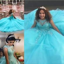 Синий бальное платье Пышное Платье кружево с аппликацией и бисером сладкие 16 длинные для выпускного платья на заказ вечерние платья одежда