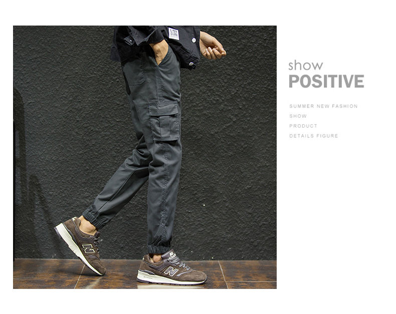 7XL Cargo Pants Men Quality Cotton Pencil Pants Male Washed Slim Fit Pants Mens Trousers Korean Brand MuLS Plus Size Casual Pant 05
