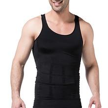 Shirt Shaper Running-Vest Body Black Underwear Corset Men Girdle Belly-Waist Slimming