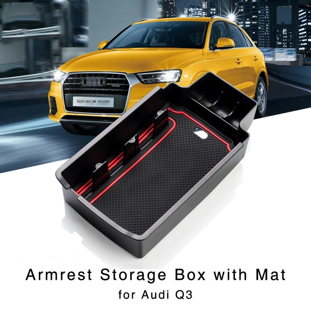 1PCS Central Storage Organizer Armrest Container Box For 2015-2017 Audi Q3