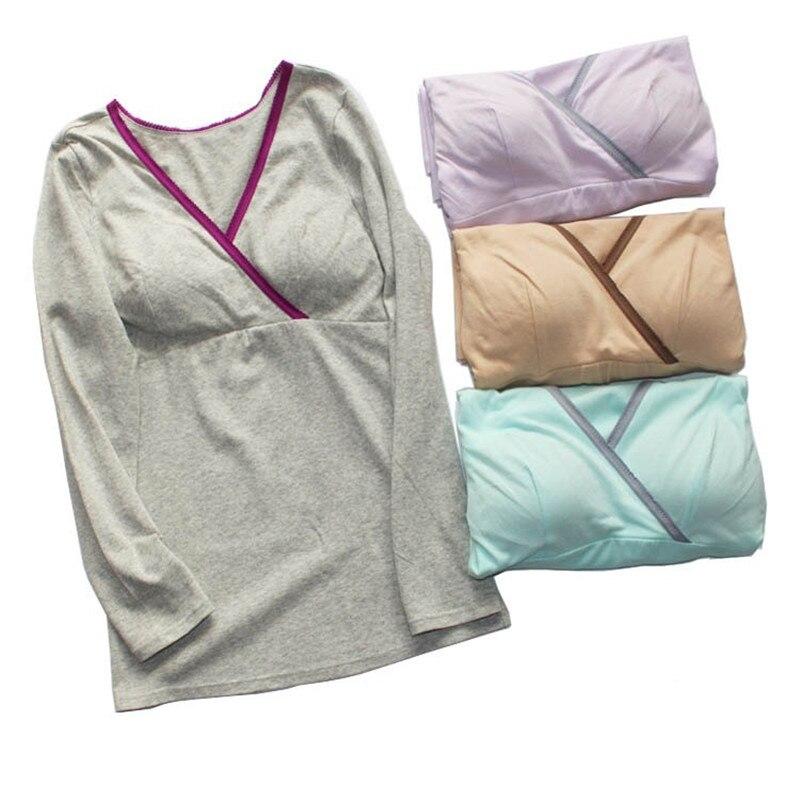 870d78828 EW llegada Lactancia Tops Camisetas Tees Maternidad enfermería mujeres  embarazadas Alimentación camiseta Maxi Premama wear ropa
