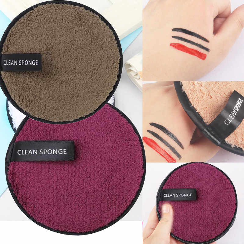 1pcs Soft Microfiber Lazy Makeup Remover Puff Double Sided Makeup Sponge Pads Easy to Use Facial Wash Puff Magic LD