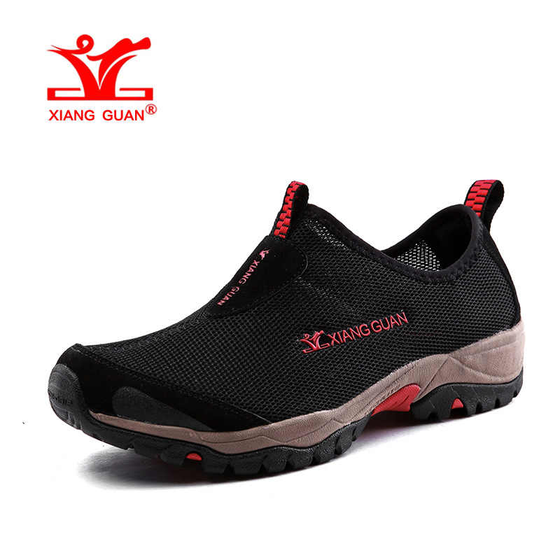 XIANGกวนผู้ชายบีชA Quaรองเท้าสำหรับผู้ชายเดินป่าสีดำฤดูร้อนว่ายน้ำกีฬาทางน้ำพายเรือลุยรองเท้ารองเท้าผ้าใบเดินกลางแจ้ง