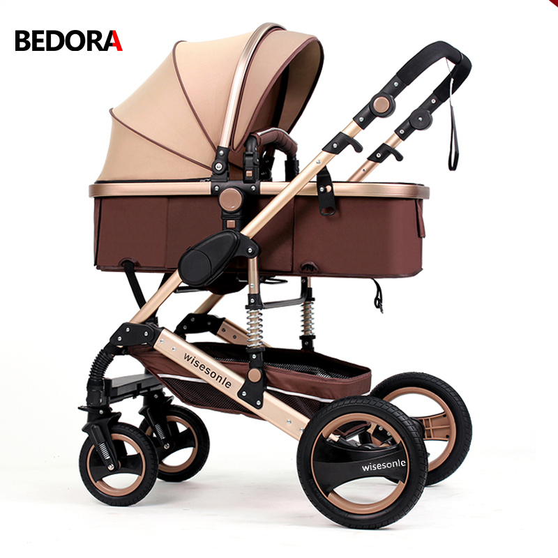 Bedora Kids High Quality High Landscape Strollers Aluminum Alloy Material 0-3 Years Old Can Sit Can Lie Trolley Free Shipping dhl free shipping top quality 900x microscope with 28 piece kit alloy material for students kids education