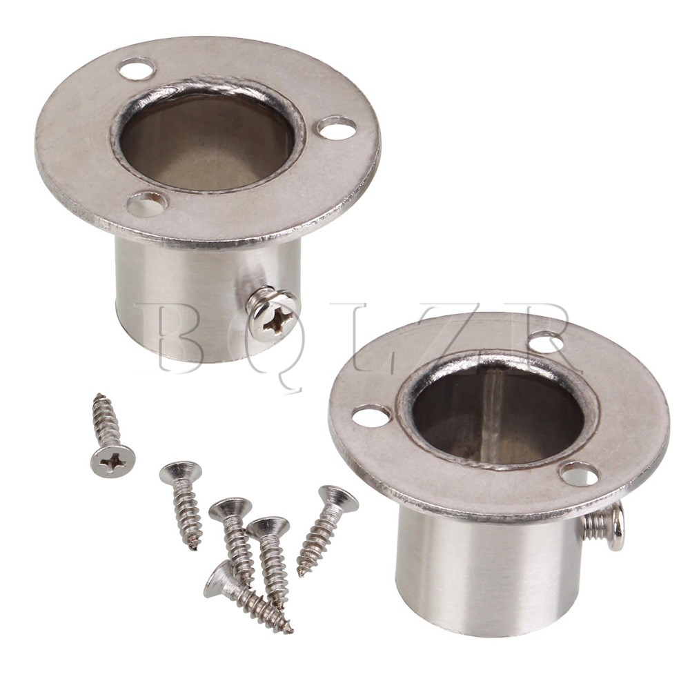 BQLZR 2PCS 4mm Mounted Hole 19mm Diameter Closet Rod Flang Socket Silver In  Flanges From Home Improvement On Aliexpress.com | Alibaba Group