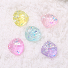 20pcs/lot 17*20MM Cute Mini Shell Flatback Resin Cabochons  Parts for earring and Pendents Decorating