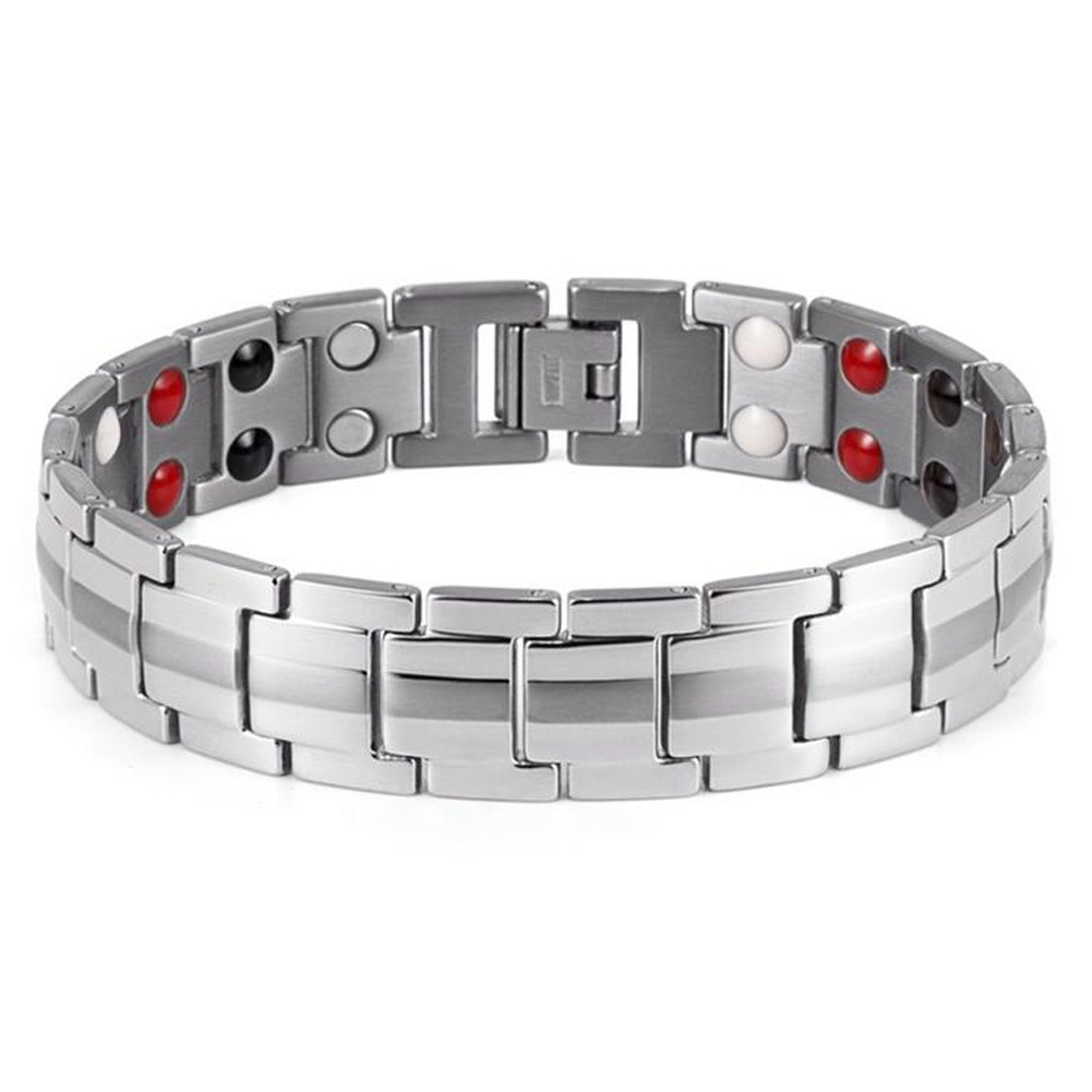 Valentine/'s Day Stainless Steel Magnetic Therapy Anxiety Men Bracelet Migraine