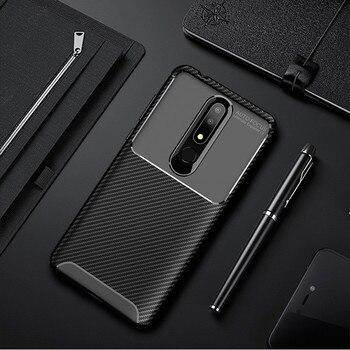 Carbon Fiber Case For Nokia 3.1 Plus Case 6.0 inch High Quality Diamond Grid Design Cover For Nokia X3 TA-1118 Back Cover