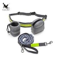 TAILUP Dog Hands Free Leash Walking Running Sports Jogging Puppy Dog Lead Collars Adjustable Dog Belt