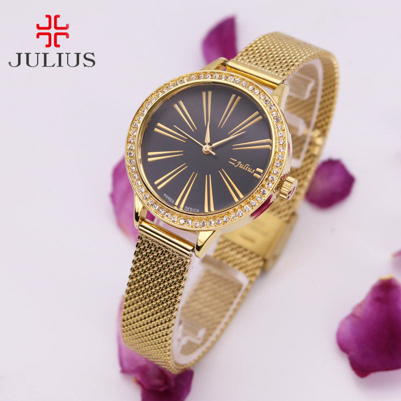 Top Stainless Steel Japan Quartz Julius Women's Watch Classic Lady Hour Fine Fashion Clock Business Girl's Birthday Gift цена и фото