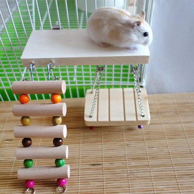 Modernistyczne Mysz papuga ptaki półka chomika plac zabaw dla dzieci drewniane GK83